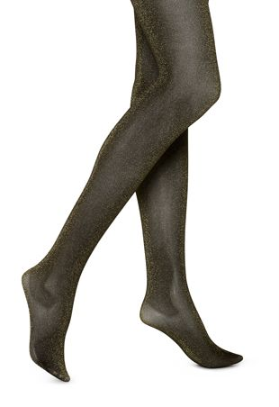 HUE  Tinted Metallic Tights