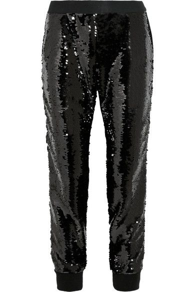 Giambattista Valli  Sequin-Embellished Silk-Satin Pants