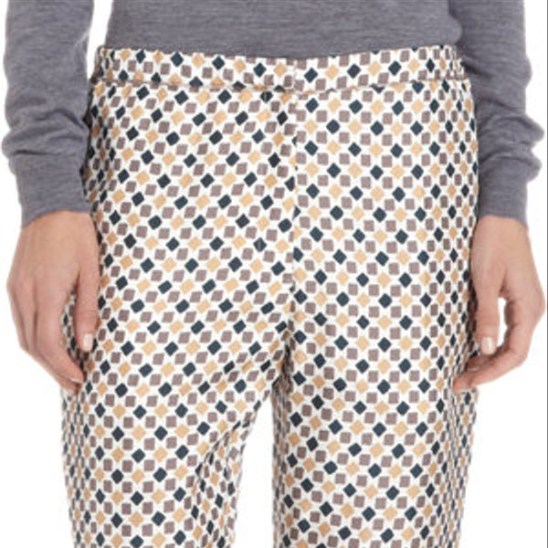 Nina Ricci  Squares and Diamonds Print Ankle-Length Pants