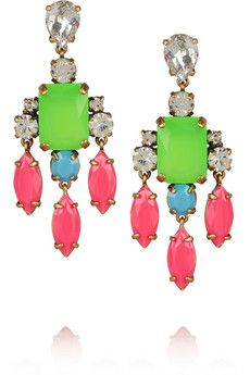 J.Crew  Collage Crystal Drop Earrings
