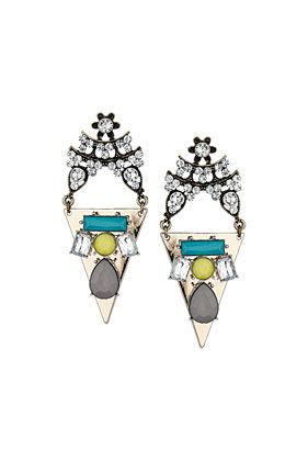 Topshop  Triangular Ornate Stud Earrings