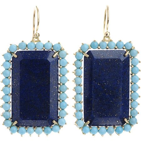 Irene Neuwirth  Lapis & Turquoise Earrings