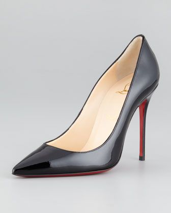 Christian Louboutin  Decollete Patent Leather Stiletto Pumps