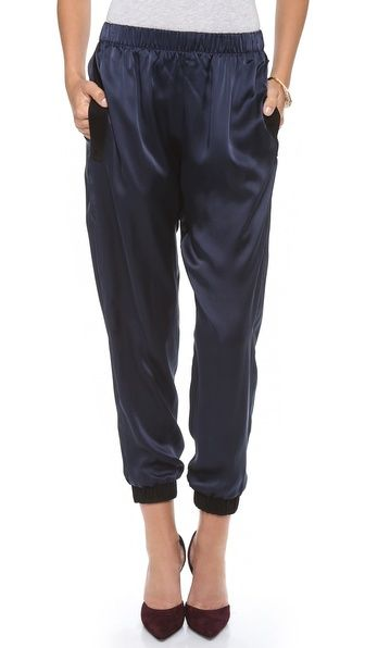 By Chance  By Chance Stella Track Pants with Suede Trim