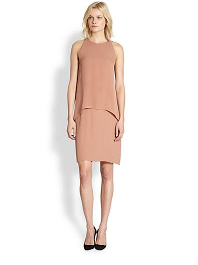 Theory  Lyall Silk Layered Dress