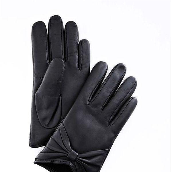 Ann Taylor  Leather Bow Gloves