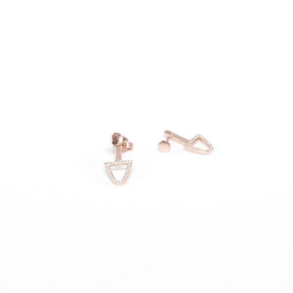 Mason/Stanley Bermuda Stud Drop Earrings with Pave Diamonds