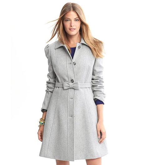 Banana Republic Banana Republic Fit-and-Flare Bow Coat