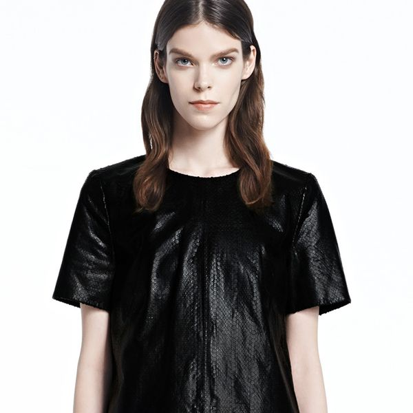 J Brand Marilena Leather Tee