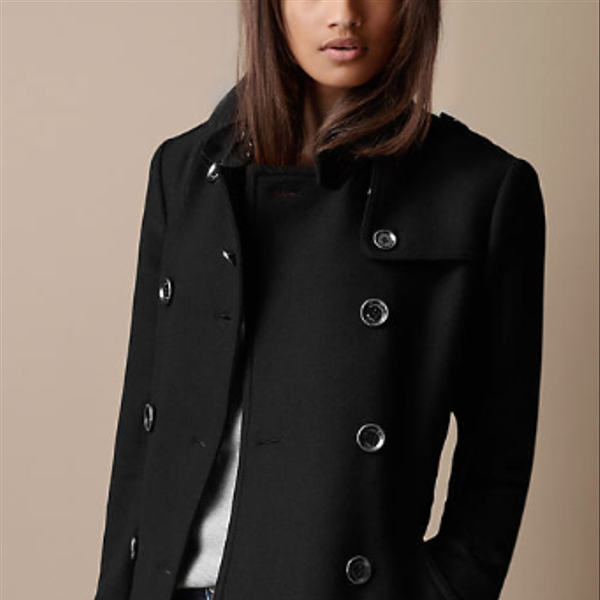 Burberry  Mid-Length Wool Twill Trench Coat