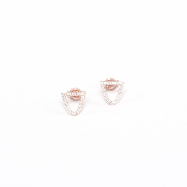 Mason/Stanley  Bermuda Stud Earrings with Pave Diamonds