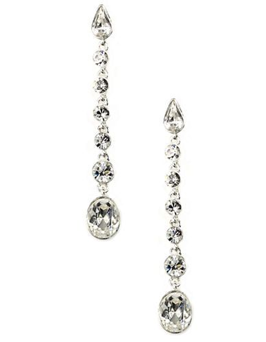 Givenchy  Silver-Tone Crystal Drop Earrings