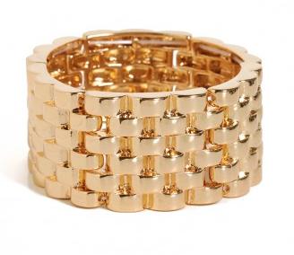 BaubleBar  Gold Basket Cuff