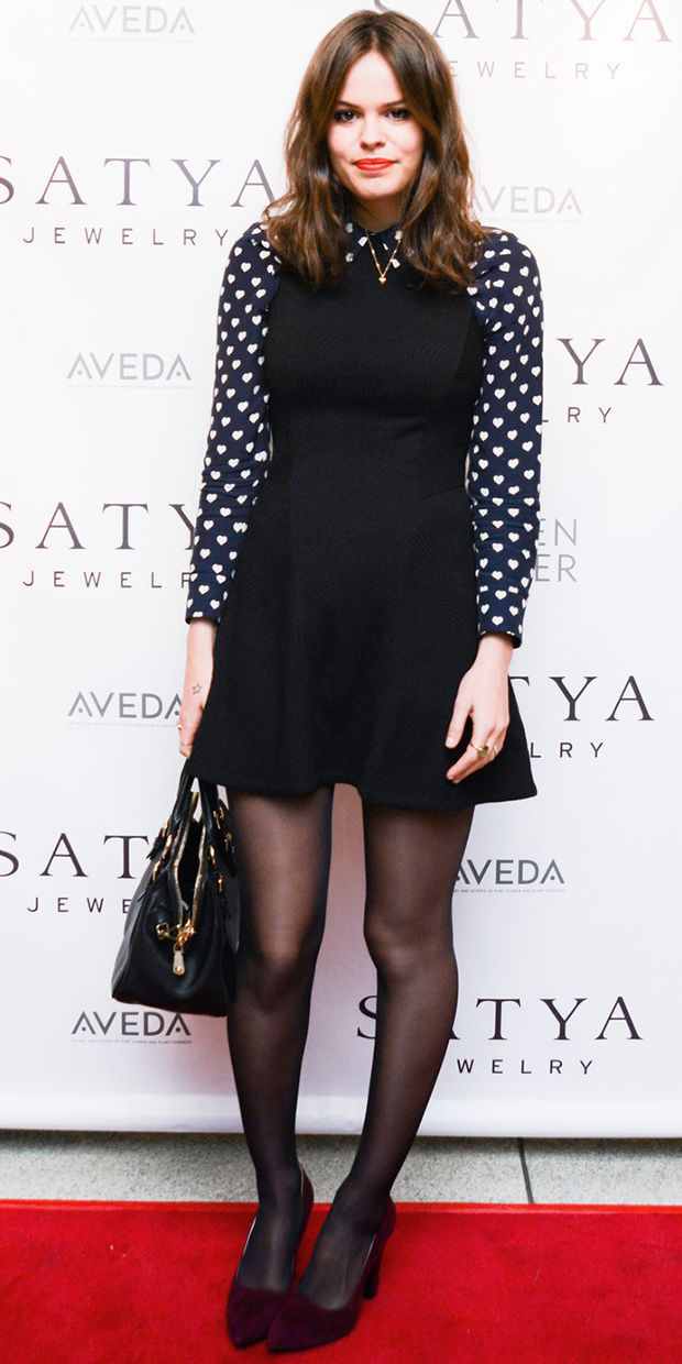 Atlanta de Cadenet Taylor Wears Her Heart On Her Sleeve.