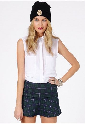 Missguided Ailey Tartan Skirt