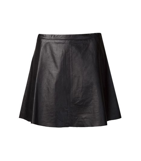Love Love Leather Lamb Leather Skirt