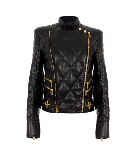 Balmain Balmain Leather Quilted Jacket