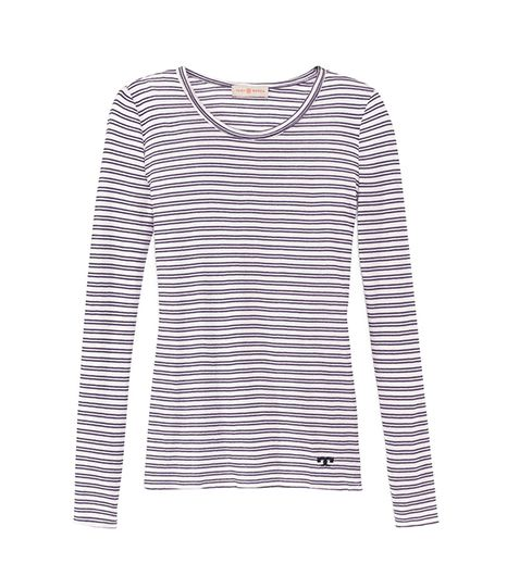 Tory Burch Mariah Long-Sleeve Tee Shirt