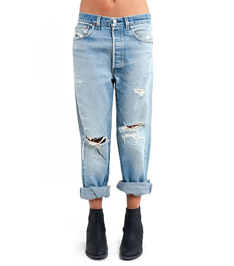 Denim Refinery  The Shred Shred Distressed Levi's 501 Jeans