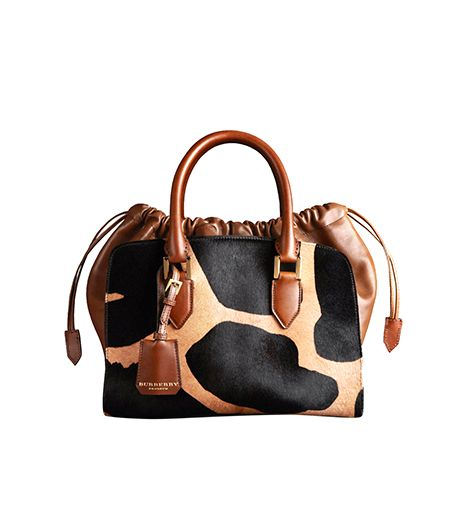 Burberry Prorsum Medium Animal Print Calfskin Bag
