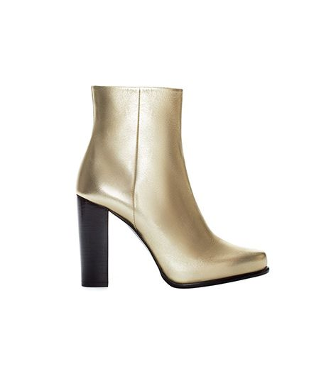 Zara Zara High Heel Leather Ankle Boot