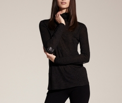 Twenty Lurex Viscose Turtleneck Top