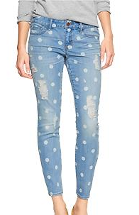 Gap 1969  Destructed Print Always Skinny Jeans