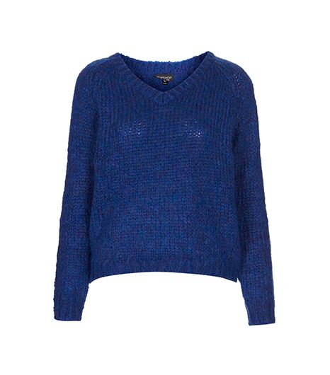 Topshop  Knitted Mohair V Neck Jumper