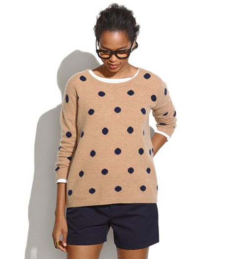 Madewell  Dotted Crewneck Sweater ($