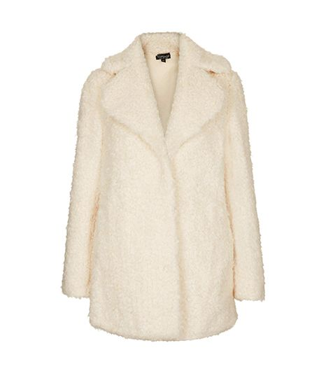 Topshop Teddy Fur Pea Coat