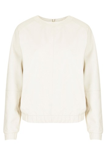 Topshop The Collection Leather Sweater