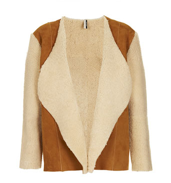 Topshop Waterfall Sheepskin Coat