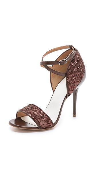 Maison Martin Margiela  Sequin Heel Cap Sandals
