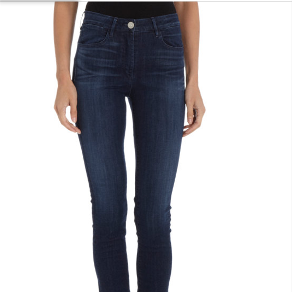 3x1 High Rise Channel Seam Skinny Jeans