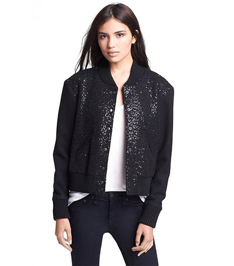 Smythe Sequin Bomber Jacket