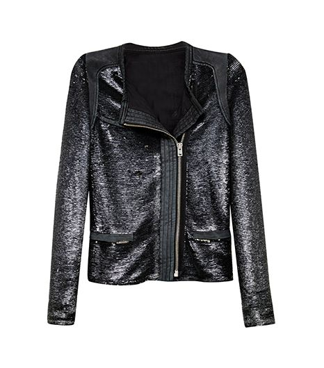 IRO Sequin And Leather Trimmed Jacket