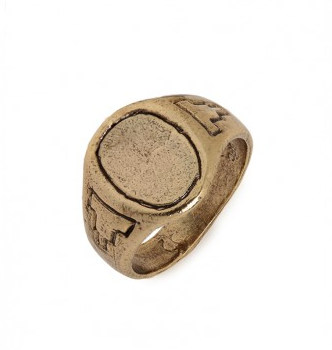 Bones & Feathers Oval Signet Ring