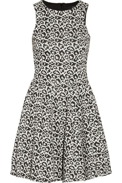Tibi  Leopard-Pattered Stretch-Knit Dress