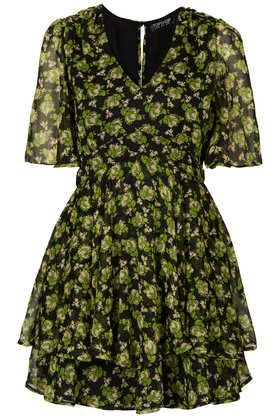 Topshop  Floral Bunches Tier Dress