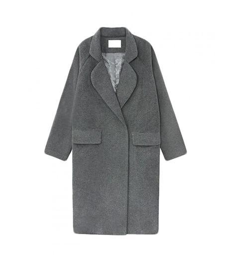 Choies Deep Gray Longline Wool Coat