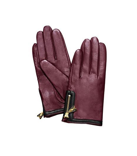 Tory Burch Moser Glove ($165) in Dark Plum