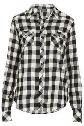 Topshop  Tall Longsleeve Checked Shirt