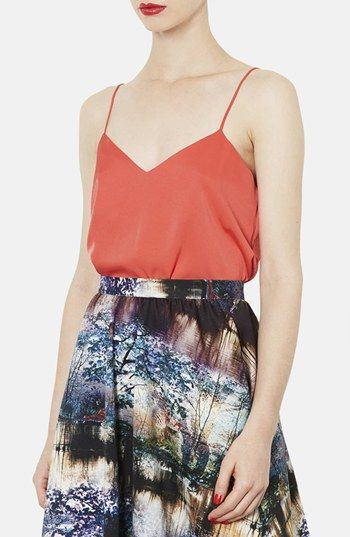 Topshop  Double V-Neck Satin Camisole