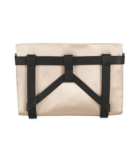 BCBG Max Azria Bondi Satin Harness Clutch  BCBG Max Azria Bondi Satin Harness Clutch