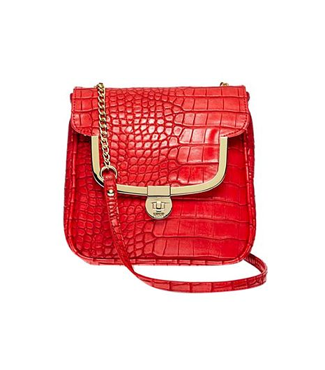 Lulu by Lulu Guinness Lulu by Lulu Guinness Legacy Frame Croco-Embossed Mini Crossbody Bag