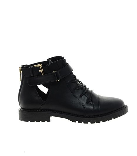 River Island River Island Cutout Lace Up Boot