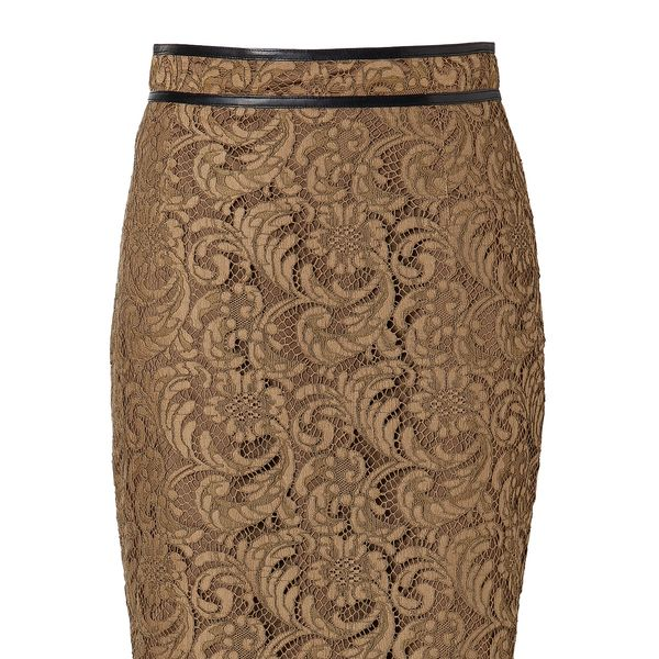 Burberry London Burberry London Cotton Blend Lace Pencil Skirt
