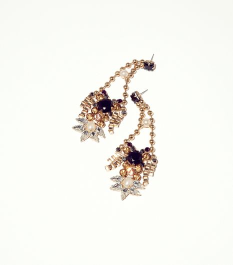 Topshop Premium Rhinestone Drop Earrings