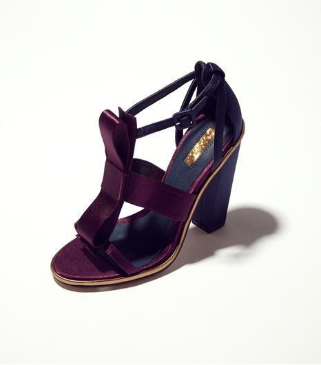 Topshop RASPBERRY Satin Bow Sandals