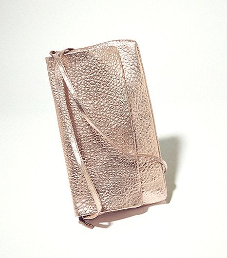 Topshop Metallic Riot Clutch